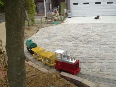 Miniature Railroad In Garden