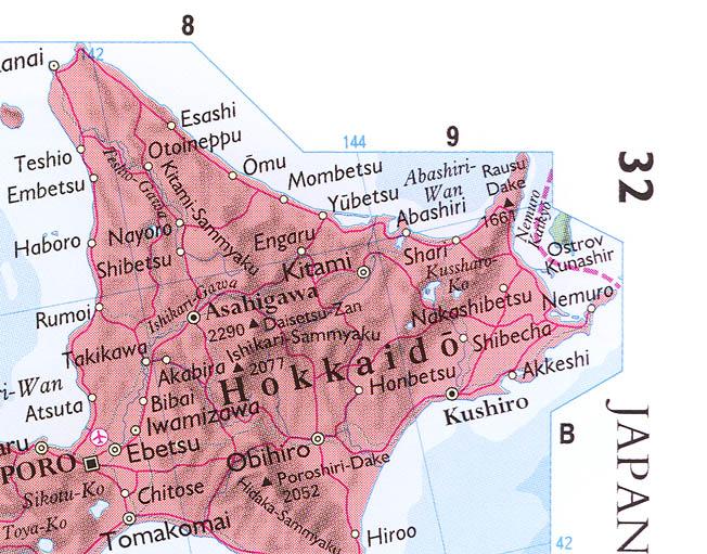海外の地図における北方領土の表...