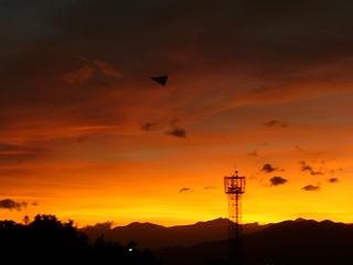 長野の西山の小焼け