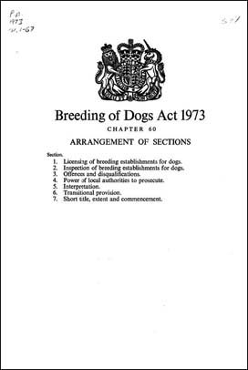 Breeding And Sale Of Dogs Welfare Act
