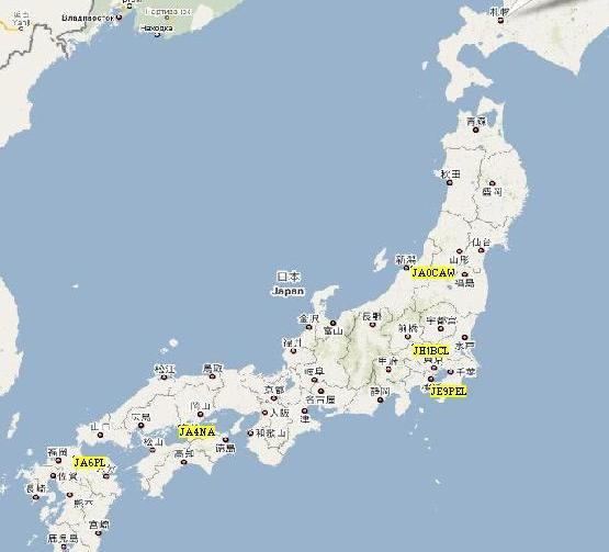 UISS - Japan map large size
