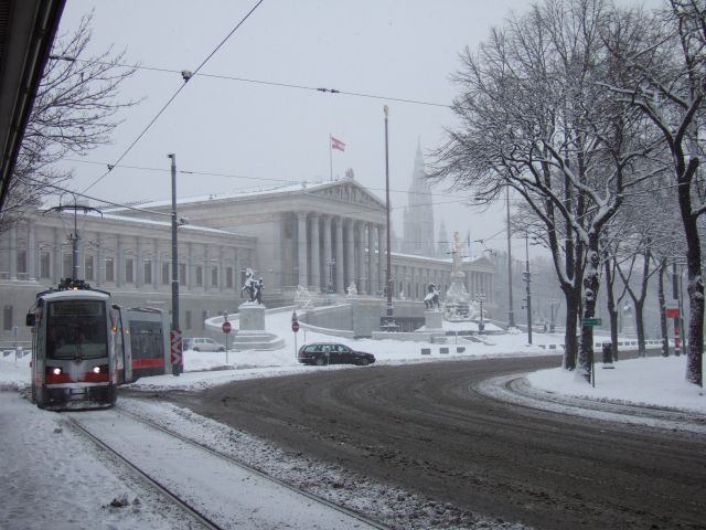 Wien with snow
