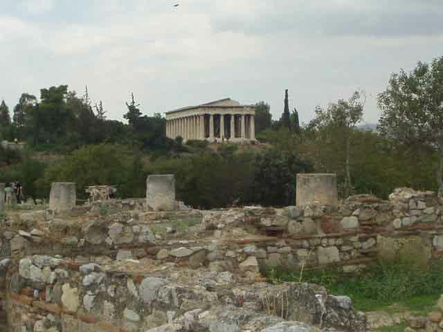 古代アゴラ、ヘファイストス神殿...
