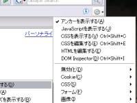 [Web Developer Tool Button 使用画面]