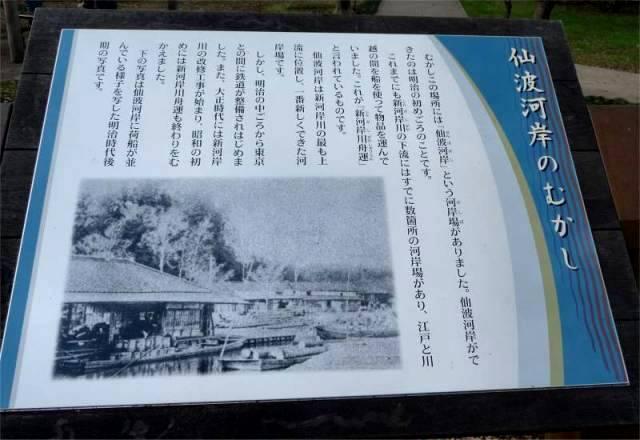 仙波河岸の説明