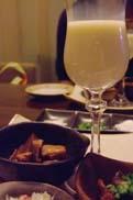 前菜三種と自家製豆乳:クリックで拡大