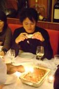 バースデーケーキをパチリ☆:クリックで拡大