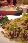 貝の炒め物:クリックで拡大