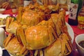 山盛りの上海蟹:クリックで拡大