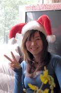 サンタ帽でぴーす!