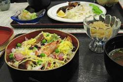 ちらし寿司定食:クリックで拡大