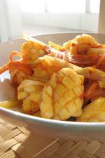イカと野菜のサンバル炒め:クリックで拡大