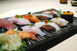 にぎり寿司盛り合わせ:クリックで拡大