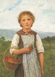 イチゴを持つ少女