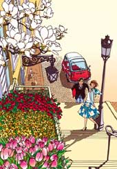 巴里の街~めぐり逢う花